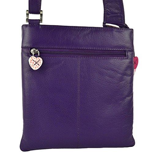Mala Leather - Bolso cruzados para mujer púrpura - morado