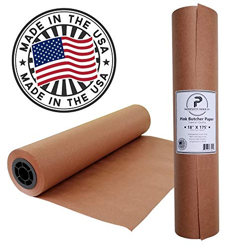 "Pink Butcher Paper Roll 18"" x 2100"" (175ft) 