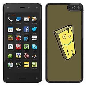 LECELL--Funda protectora / Cubierta / Piel For Amazon Fire Phone -- Queso Amarillo Smiley Face Esponja Cartoon --