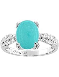 Amazoncom Gemstones Turquoise Engagement Rings Wedding