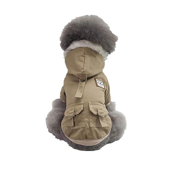 Ropa para Mascotas,Dragon868 Moda Hermoso Estilo Militar Encapuchado algodón Pet Abrigos de Perro: Amazon.es: Ropa y accesorios