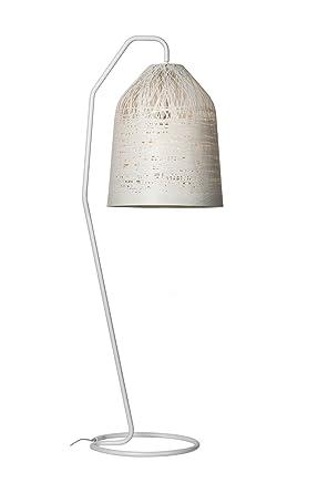 Lámpara de pie de plástico Black Out de color blanco, hecha a mano ...