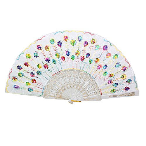 TZNGYSP Folding Hand Fans for Wedding Decoration Mariage Flower Pattern Chinese Fan for Dancing Japanese I]()
