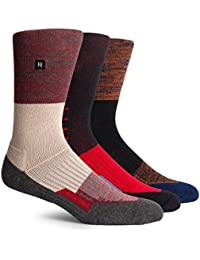 Men's Active Performance Crew Socks - One Size (3 Pairs Mixed Pack)