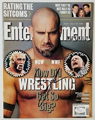 Bill Goldberg WWF Wrestling Signed 1999 Entertainment Weekly Magazine COA JSA Certified Autographed NFL Magazines