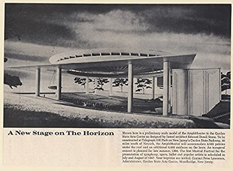 1965 Garden State Arts Center Amphitheater Scale Model Print Ad (65783)