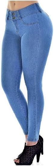 Nicellyer Women's Pencil Pants Skinny Plus-Size Skinny Elastic Jeggings