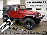 Fits Jeep Wrangler Black Coated TJ Rockers 5