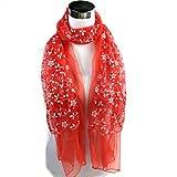 Ikevan Hot Selling Newset Women Lady Warm Shawl Lace Embroidered Scarf Soft Shawl Wrap Large Scarves Warm Autumn Winter 168x33cm (14)
