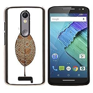 Cubierta protectora del caso de Shell Plástico || Motorola Moto X ( 3rd Generation ) || hoja de araña @XPTECH