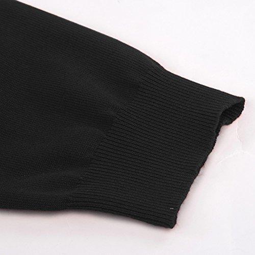 Noir Manche Longue KARIN GRACE Pull V Cardigans Chandail Col Gilet Casual Cardigan Femme Tricot Fr824 XpU6qI6x