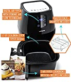 Air Fryer Touchscreen by Cozyna (3.7QT) with 2 airfryer cookbooks and a skewer rack accessory