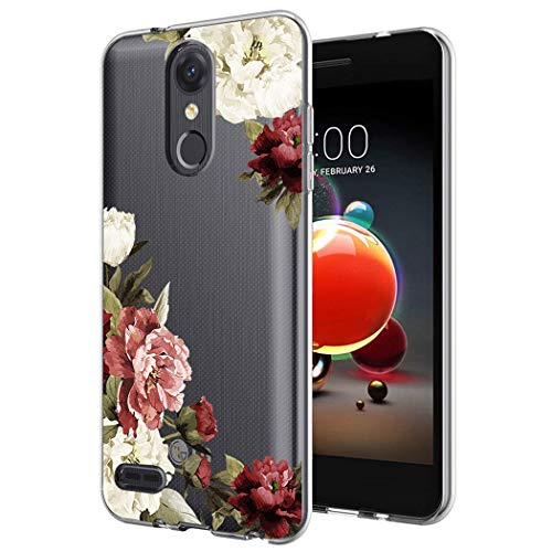 Case for LG Aristo 2/Tribute Dynasty/Aristo 3/ lg Tribute Empire/Rebel 4/ Phoenix 4/Fortune 2, Ueokeird Slim Shockproof Clear Floral Pattern Soft Flexible TPU Back Phone Cover (Blossom Flower)
