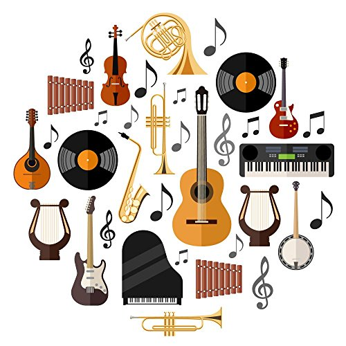 wallmonkeys-wm364827-assorted-musical-instruments-peel-and-stick-wall-decals-30-in-h-x-30-in-w