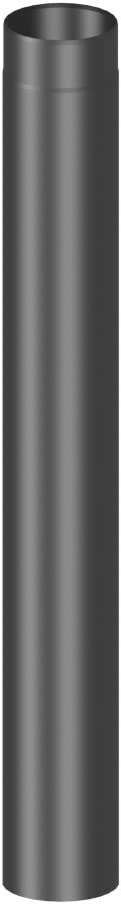 Rauchrohr mit 1000 mm L/änge und 120mm Durchmesser grau Ofenrohr Kaminrohr