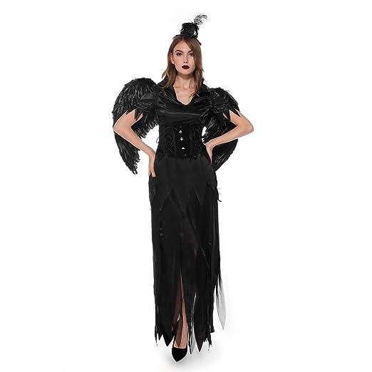 JIANG BREEZE Halloween Moda Mujer Angel Devil Queen Cosplay ...