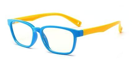 scarpe sportive 396f1 e1aa6 Occhiali anti blu per bambini Occhiali per computer, occhiali anti raggi UV  Occhiali per computer Occhiali per videogiochi per bambini (Blue-yellow)