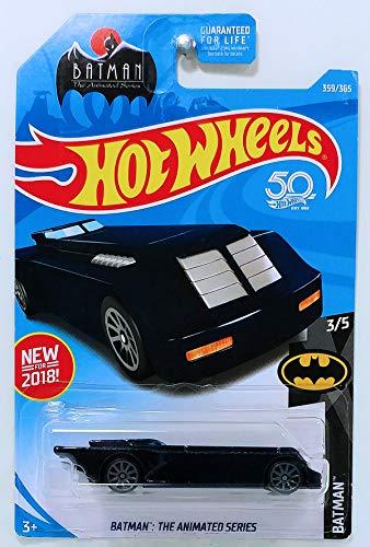 Hot Wheels 2018 Batman 3/5 - Batman: la serie animada Batmobile (azul oscuro)