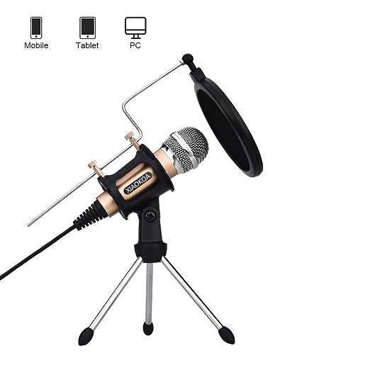 45 opinioni per XIAOKOA PC Microfono a condensatore, Set microfoni per Computer laptop PC
