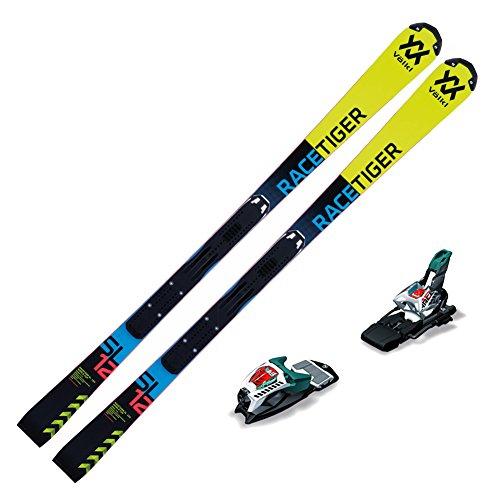 Volkl 2018 Junior Racetiger Speedwall SL R Skis with Marker Race 10 TCX Bindings (145 CM) ()