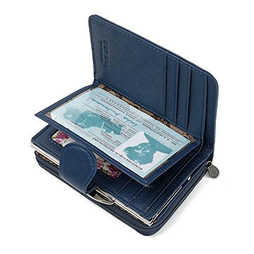 Main Petit Pliable Carte Monnaie pour Zipper Red Lady Court à Sac d'embrayage Sac Blue Lovely rabbit Porte Femmes Color xpOPzt