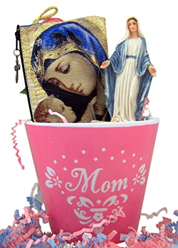 Madonna with Child Rosary Purse and Holy Water Font in Mothe