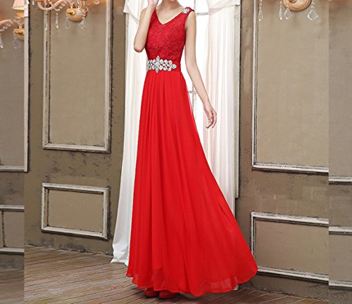 d'onore da SHJJK rosso XXL per sera damigella da la abito abito sposa d'onore damigella Abito da AwvxrwqIZS
