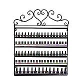 Toxz 6 Tier Wall Mounted Metal Nail Polish Rack Storage Rack Perfume Display Cosmetic Shelf,for Home/Beauty Salon,Elegant Modern(Ship from US!)
