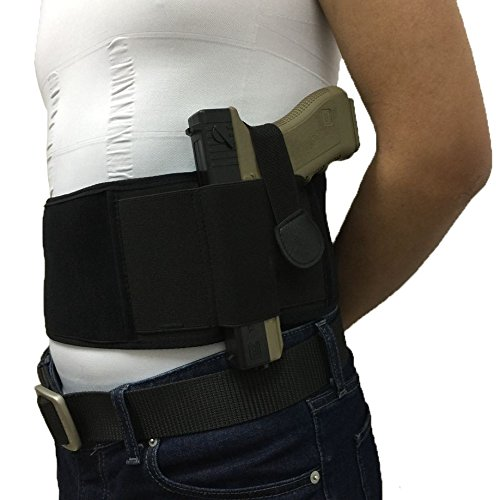 Fjyu Concealed Carry Belly Band Holster, Waist Band For Pistols Revolvers, Men and Women(Right handed Version) price tips cheap