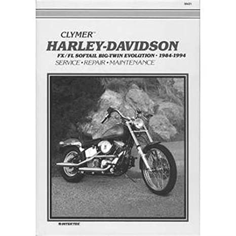 amazon com clymer repair manual for harley davidson softail automotive rh amazon com