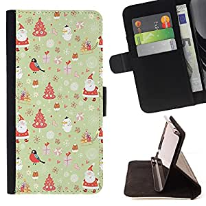 Dragon Case - FOR Samsung Galaxy Note 4 IV - Colorful Christmas - Caja de la carpeta del caso en folio de cuero del tir¨®n de la cubierta protectora Shell