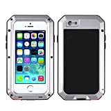 iPhone 6/6S Case,Mangix Gorilla Glass Luxury Aluminum Alloy Protective Metal Extreme Shockproof Military Bumper Finger Scanner Cover Shell Case Skin Protector for Apple iPhone 6/6S 4.7inch (Silver)