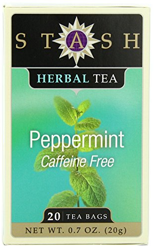 Stash Tea Peppermint Herbal Tea, 20 Count Tea Bags in Foil (Pack of 6)