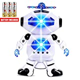 Toysery Electronic Walking Dancing Robot Toys With Music Lightening For Kids Boys Girls Toddlers,...