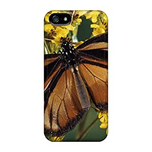 Excellent Iphone 5/5s Case Tpu Cover Back Skin Protector Clear Wing Mimic Queen Butterfly