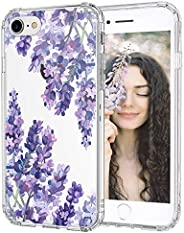 MOSNOVO iPhone SE 2020 Case, iPhone 8 Case, iPhone 7 Case, Lavender Floral Flower Clear Design Printed Transpa