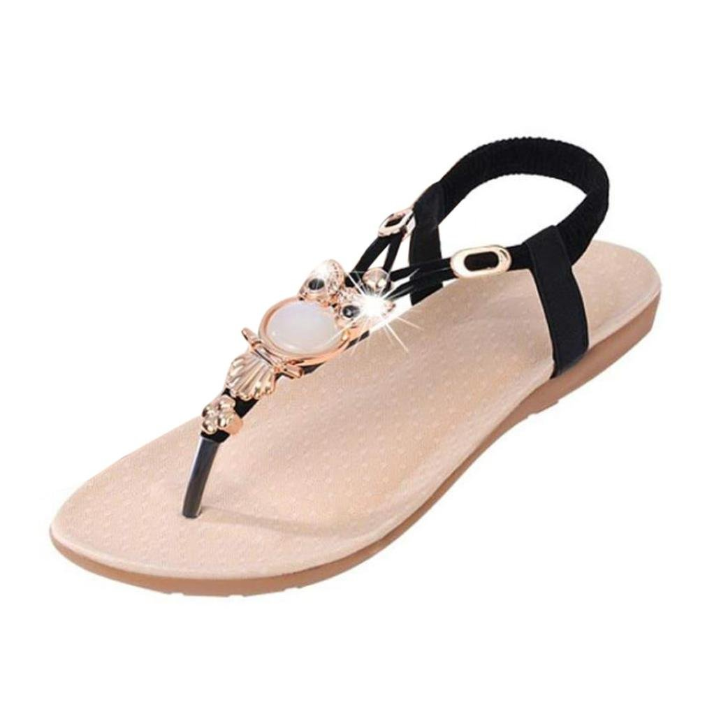 Ladies Flat Diamante Womens Flip Flops Evenin Summer Sandals Beach Shoes Size Uk