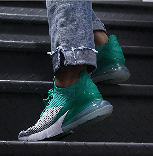 TENGFEI Air 270 Flyknit Men's Running Shoes Trainers Lace up Breathable Leisure Sneaker B07DHHWZ7D 11 M US|Green White