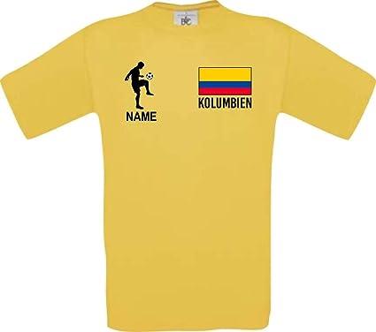 Shirtstown Camiseta de Niño Camiseta de Fútbol Colombia con Su Nombre Desdeado Estampado: Amazon.es: Ropa y accesorios