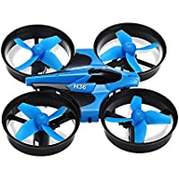 H36 Mini Rc Quadcopter With Headless Mode / Speed Switch 2.4ghz 4ch 6 Axis Gyro, Mini-Drone Pocket Drone Remote Control Helicopter Quad Copters Toy (BLUE)