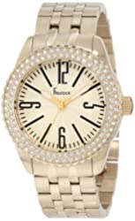 Freelook Women's HA5339GM-3 All Gold Band And Dial Swarovski Bezel Watch