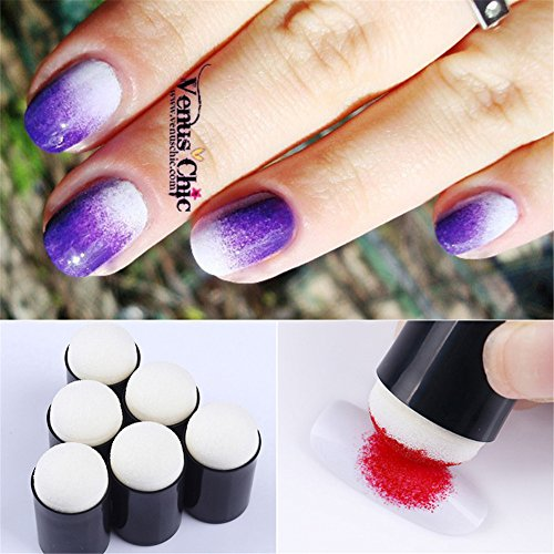 3D Nail Art Paint Draw Painting Acrylic Color UV Gel Tip DIY Kit (Purple) - 9