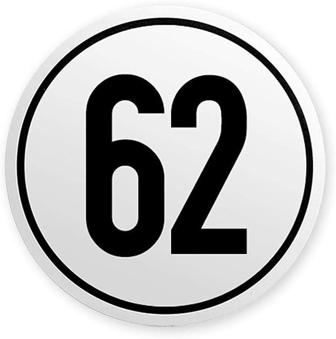 Geschwindigkeitsschild 62 Km H Auf Aluminium Für Deutschland Lkw Traktor Pkw Anhänger Tempolimit Baumarkt