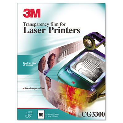 3M Commercial Office Supply Div. Products - Laser Transparency Film, 50/BX, 8-1/2