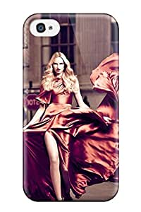 ZippyDoritEduard Perfect Tpu Case For Iphone 4/4s/ Anti-scratch Protector Case (woman In Red)