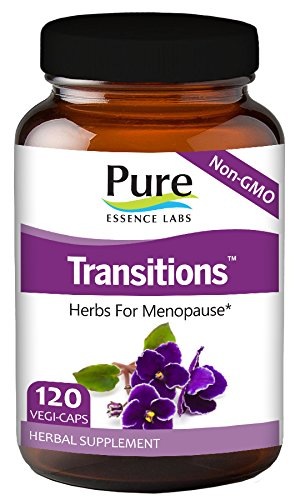 Transitions - Herbs For Menopause By Pure Essence Labs - 120 Vegetarian Capsules