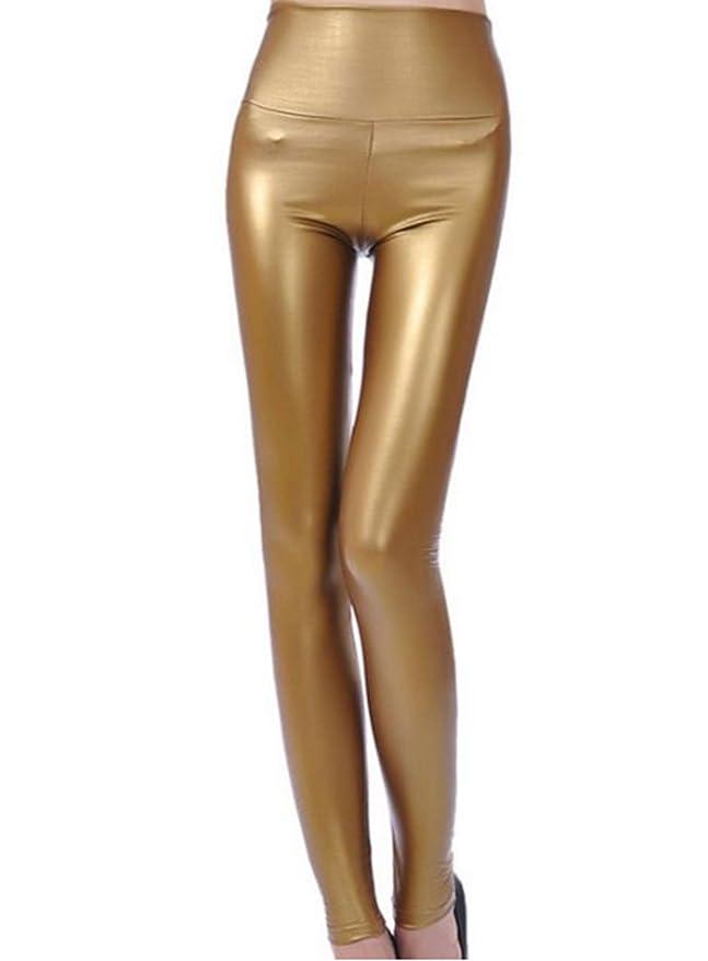 13 opinioni per JNTworld donne sexy effetto bagnato brillare leggings in ecopelle a tenuta