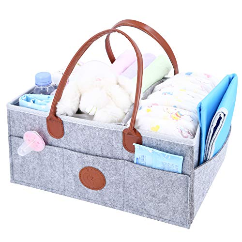 Day2Day Baby Diaper Caddy Organizer Complete with Blue Changing Mat ()