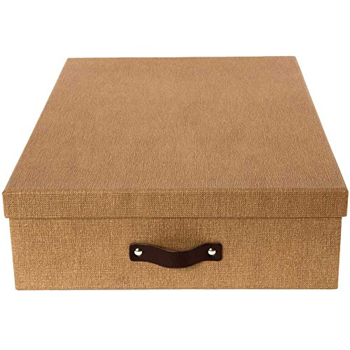 K&A Company Storage Box with Dividers, 12.2'' x 4.13'' x 16.93'' x 7.5 lbs, Cream