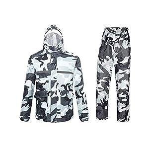 Ynport Crefreak – Combinaison imperméable à Capuche – Extérieur Homme/Femme – Étanche à l'eau de Pluie -Camouflage